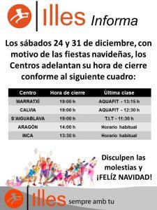 161124 Adelanto cierre Centros 24 y 31 diciembre