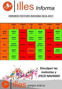 161124 BORRADOR HORARIOS CENTROS NAVIDAD 2016