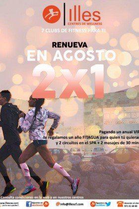 1 año  gimnasio gratis en Mallorca, 2×1 premio fidelidad