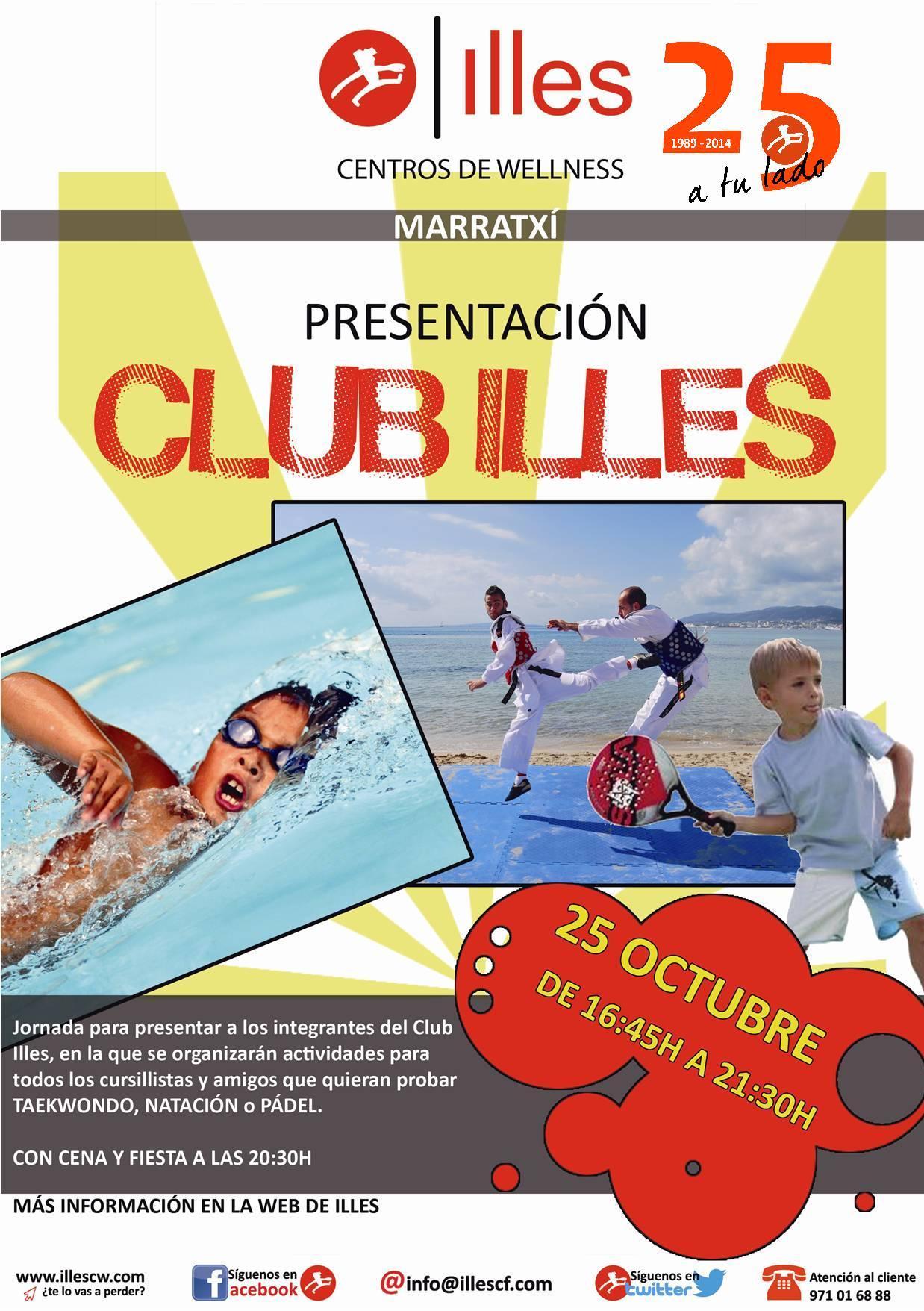 141022 cartel presentacion temporada CLUB ILLES MTX 25 años red