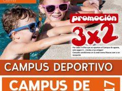 CAMPUS VERANO 2017. ¡Promoción 3×2 en agosto!
